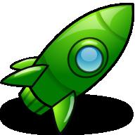 Dark green rocket